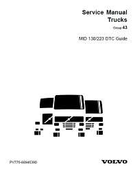 Volvo Truck Transmission MID 130 - 223 DTC Guide